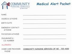 Medical Alert Packet